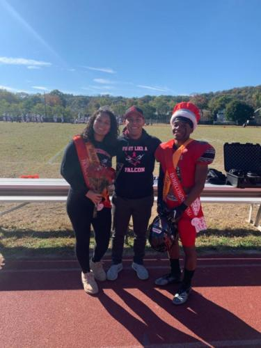 Our homecoming King and Queen with Mr. Tavarez