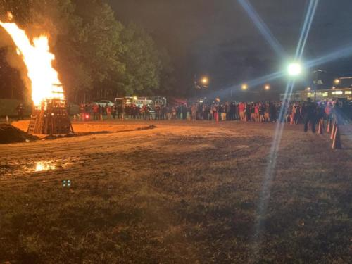 Lot's of people showed up to enjoy the fire and activities